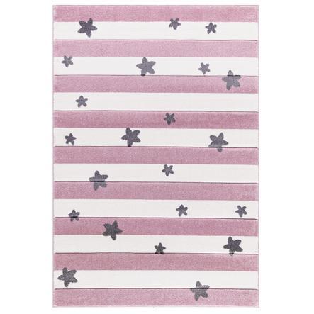 LIVONE Happy alfombra de juegos y de niños Alfombras Stars Stripes , rosa 160 x 230 cm