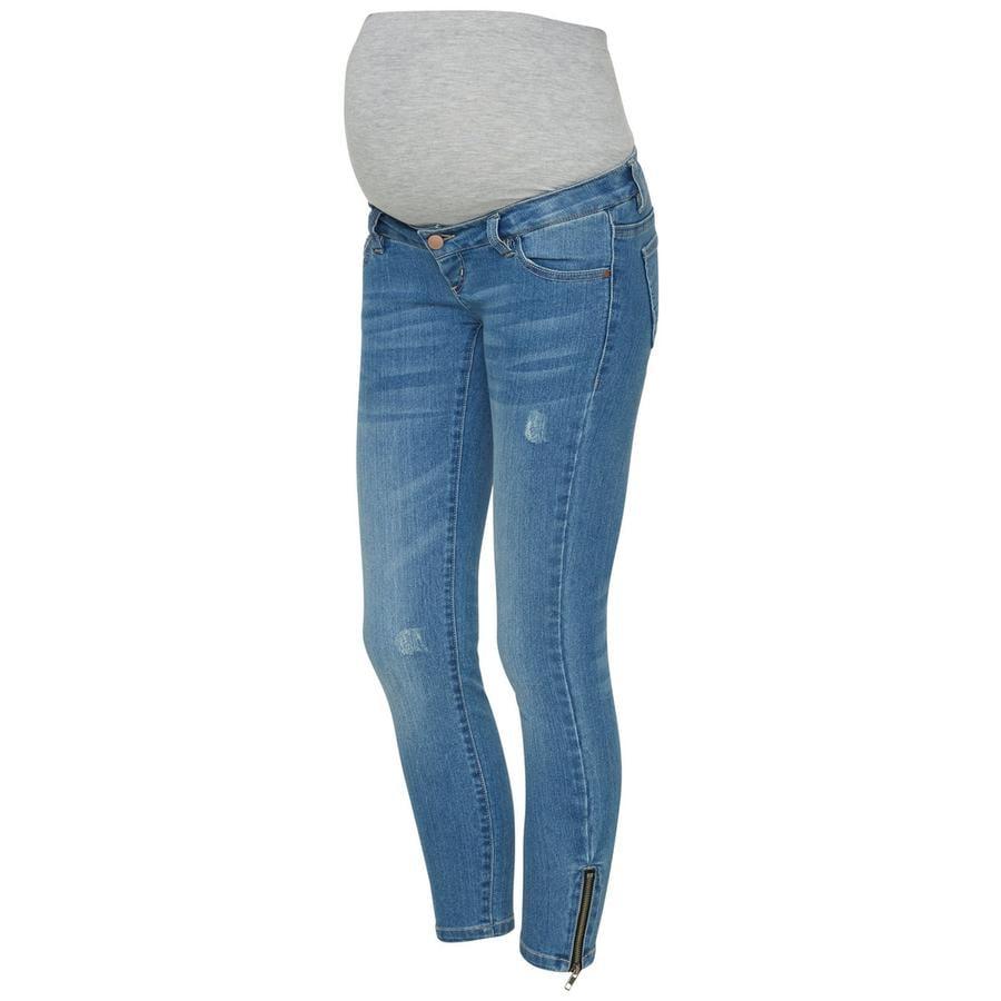 mama licious Jeans de maternité 7/8 MLRIGA Bleu ciel en jean