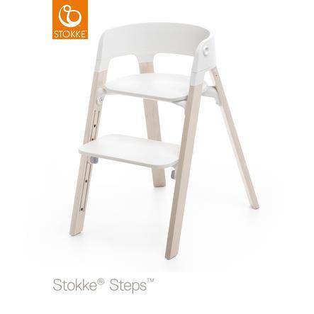stokke steps hochstuhl wei buche white wash. Black Bedroom Furniture Sets. Home Design Ideas