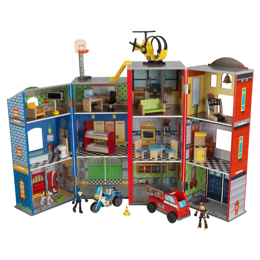 Kidkraft® Zestaw Straż pożarna i policja