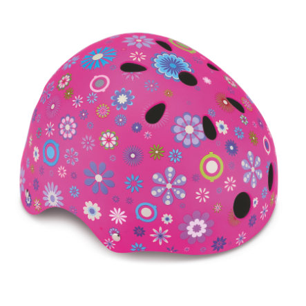 AUTHENTIC SPORTS Globber Helm Junior Flowers, pink