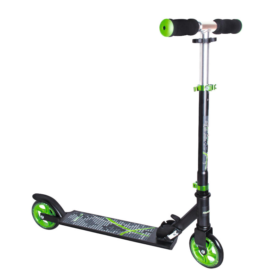 AUTHENTIC SPORTS Aluminium Scooter Muuwmi schwarz/grün, 125 mm