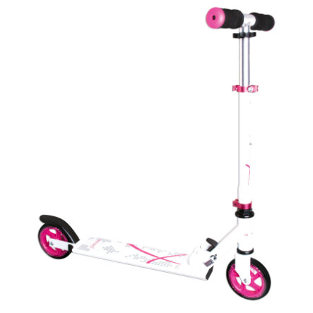 AUTHENTIC SPORTS Aluminium Scooter Muuwmi 125 mm, weiß/pink