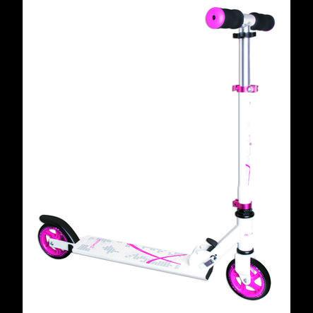 Globber Trottinette enfant 2 roues Muuwmi alu, blanc/rose, 125 mm
