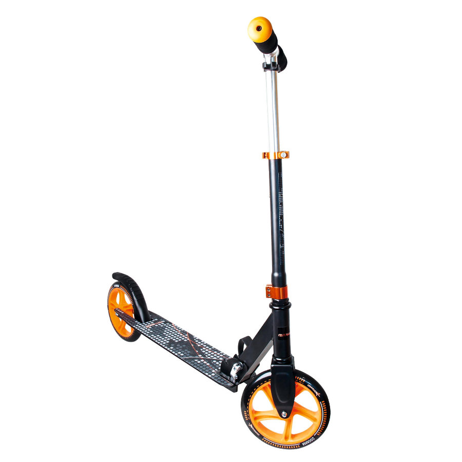 AUTHENTIC SPORTS Aluminium Scooter Muuwmi schwarz/orange, 200 mm
