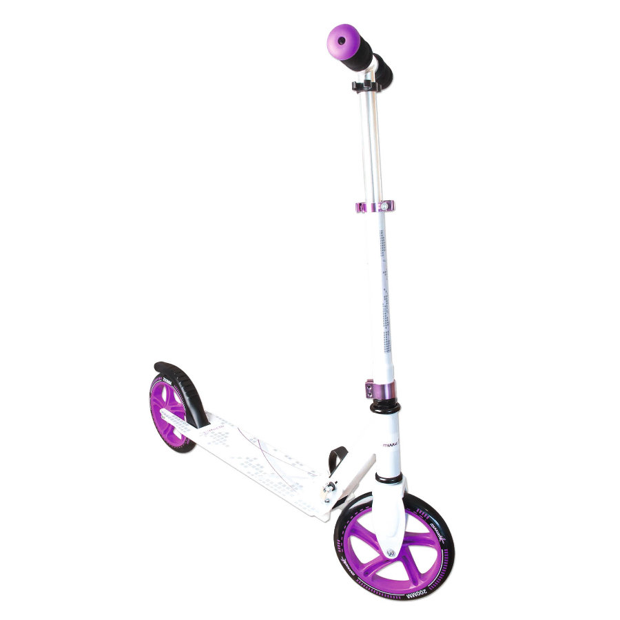 AUTHENTIC SPORTS Aluminium Scooter Muuwmi weiß/lila, 200 mm