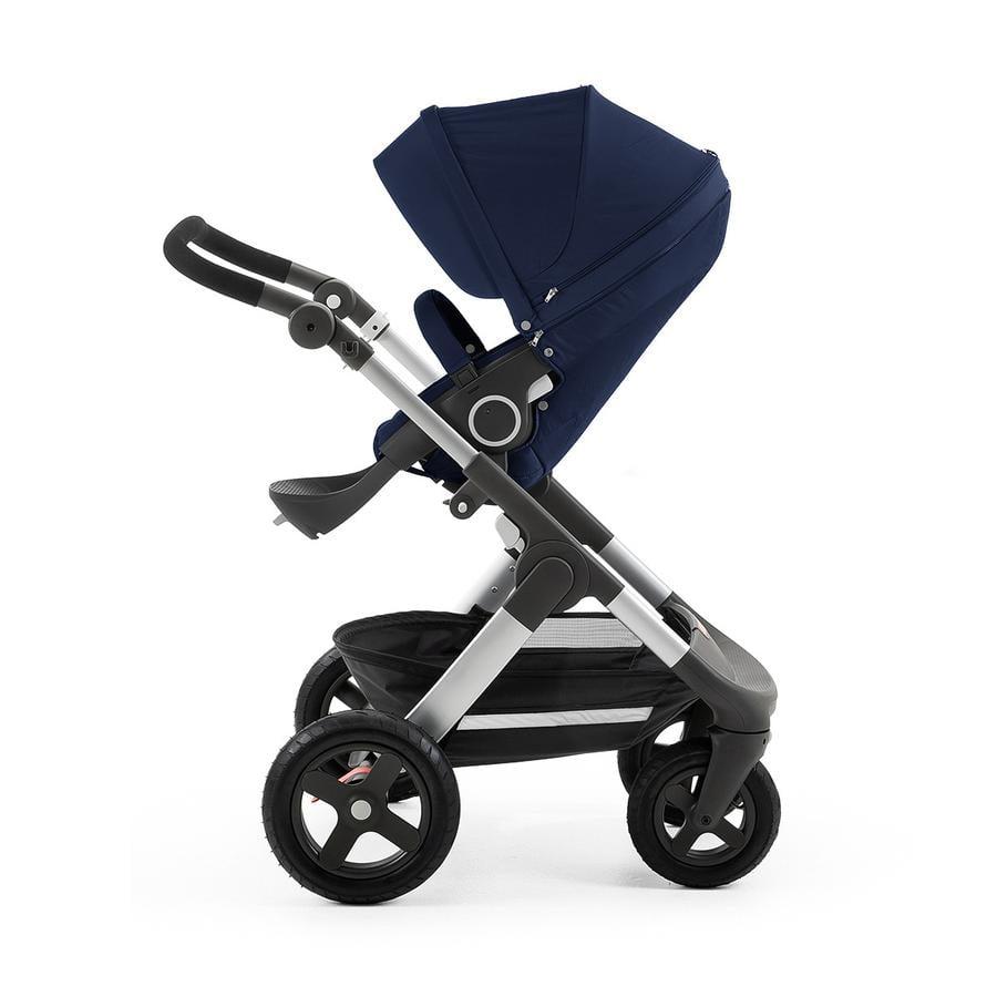 STOKKE® Trailz™ Gestell und Sitz mit Geländerädern Deep Blue