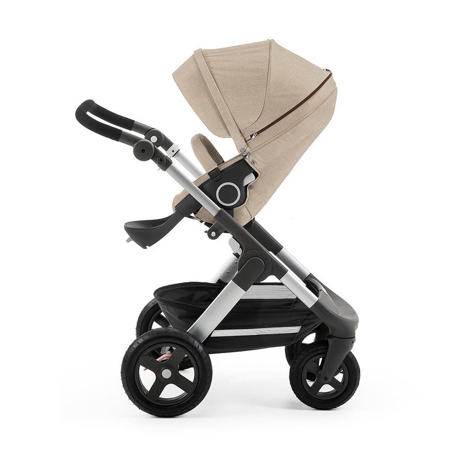 STOKKE® Trailz™ Gestell und Sitz mit Geländerädern Beige Melange