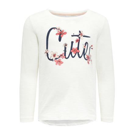 name it Girl s Camisa de manga larga Nmfdalullu blanco nieve
