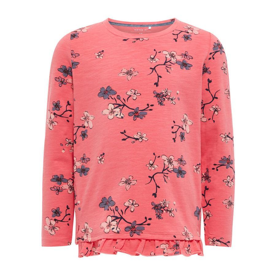 name it Girl s Overhemd met lange mouwen Nmfdabille sunkist koraal