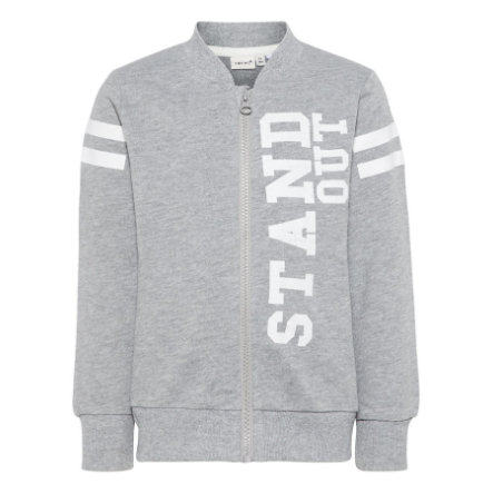 name it Boys Sweatjacke Nmmhbine grey melange
