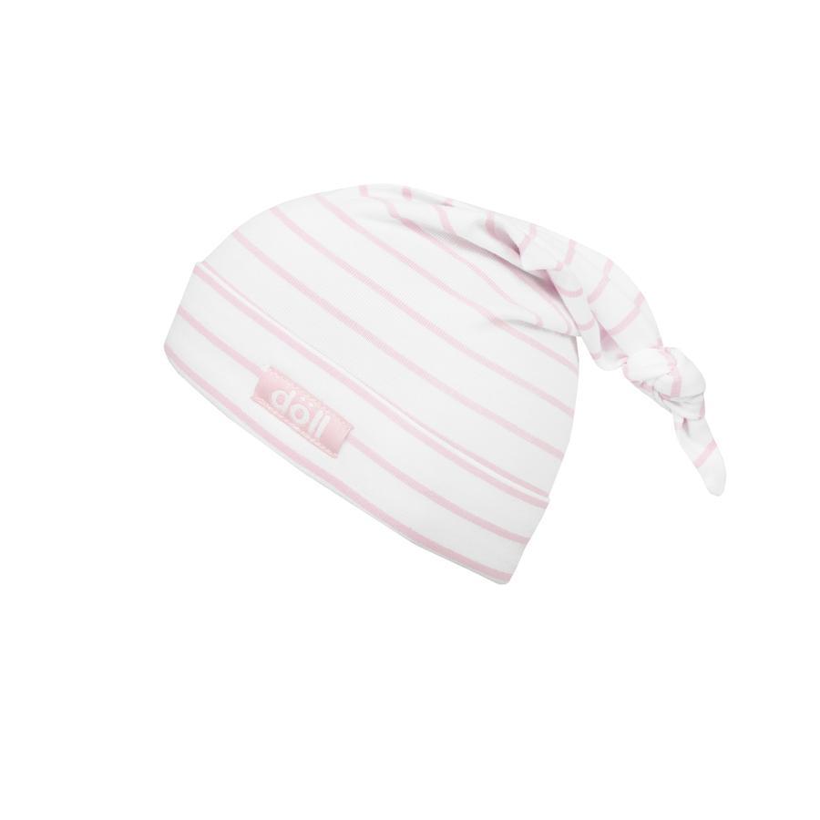 Döll Zipfelmütze Jersey, rosa gestreift
