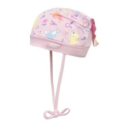Döll Girl Czapka z chustą na głowę do wiązania Jersey, różowa
