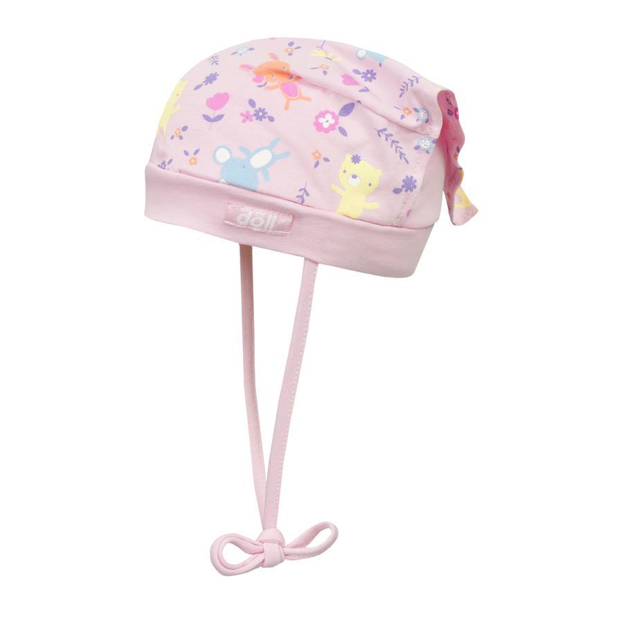 Döll Girls Kopftuchmütze zum Binden Jersey, rosa