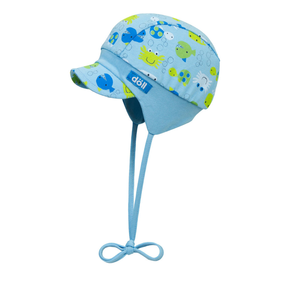 Döll Boys Bindemütze mit Schirm, blau