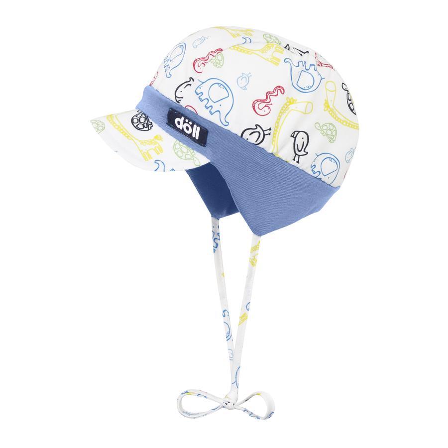 Döll Bindmuts met paraplu, kleurrijke dieren
