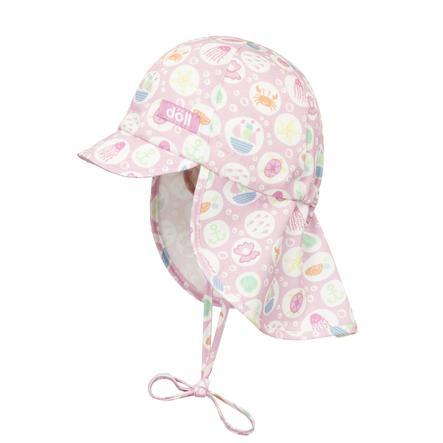 Döll Girls Casquette de reliure avec pic, rose plage