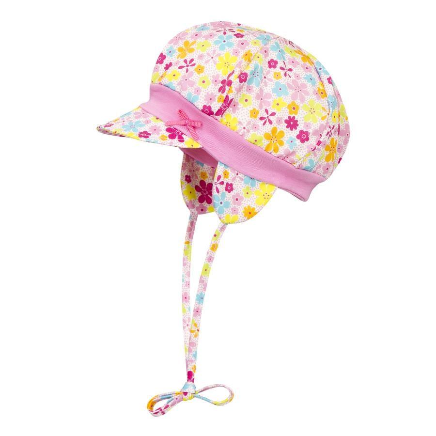 Döll Girl s Gorra de encuadernación con paraguas y flores
