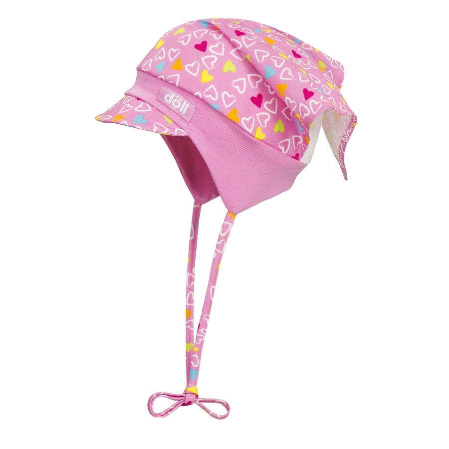 Döll Girl gorra de la cabeza de s para la rosa de la lavanda de la corbata