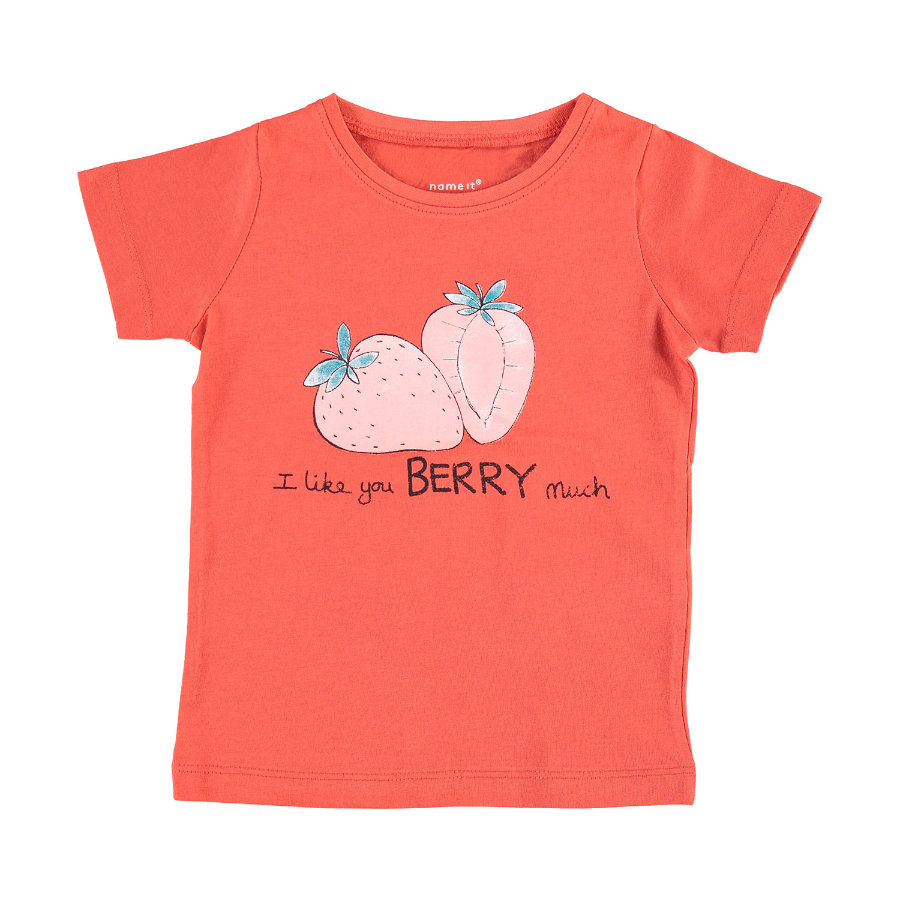 name it Girls T-Shirt Veendi aurora red