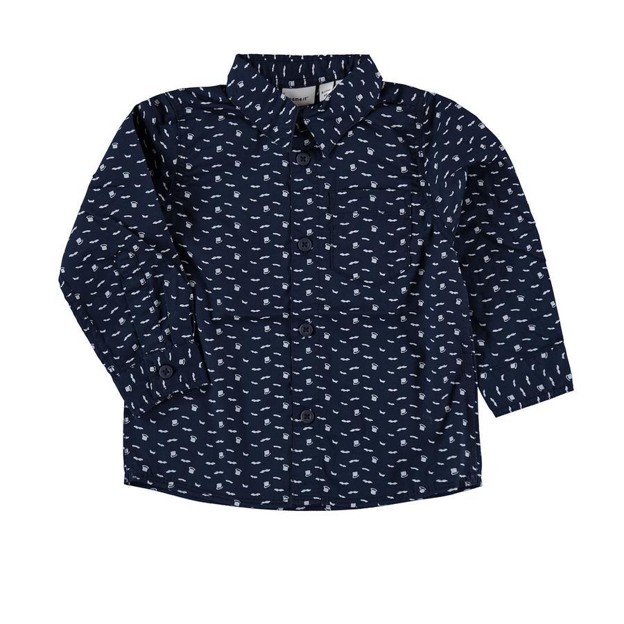 name it Boys Shirt jurk blauw