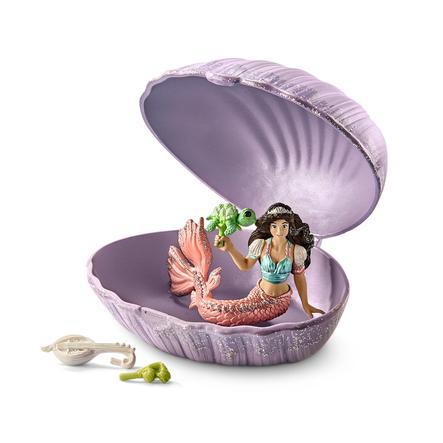 Sirena con tortuga bebé en concha 70562