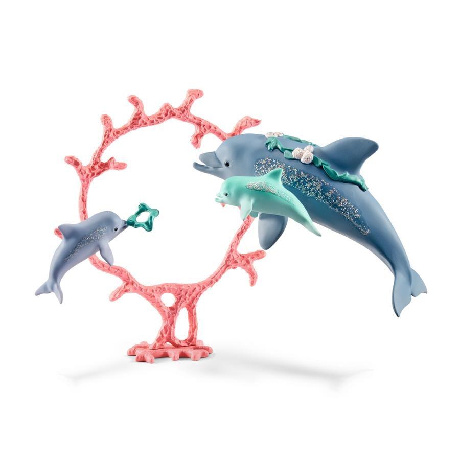 Schleich Mamma delfino con cuccioli 41463