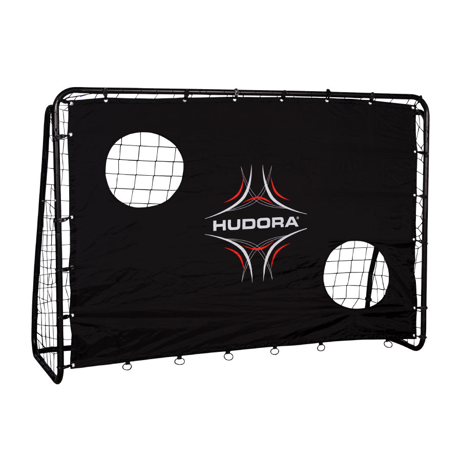 hudora fu balltor freekick mit torwand 76922. Black Bedroom Furniture Sets. Home Design Ideas
