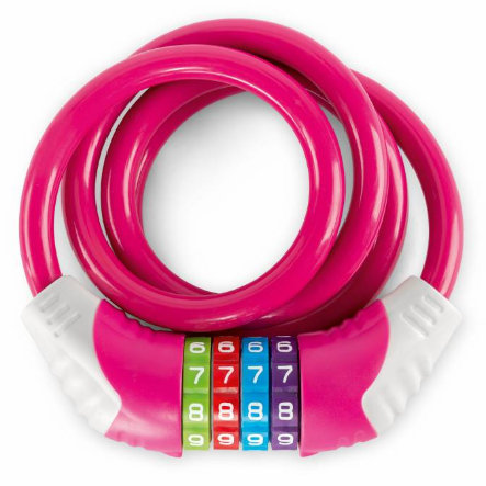 PUKY® Sicherheitskabelschloss KS, pink 9431