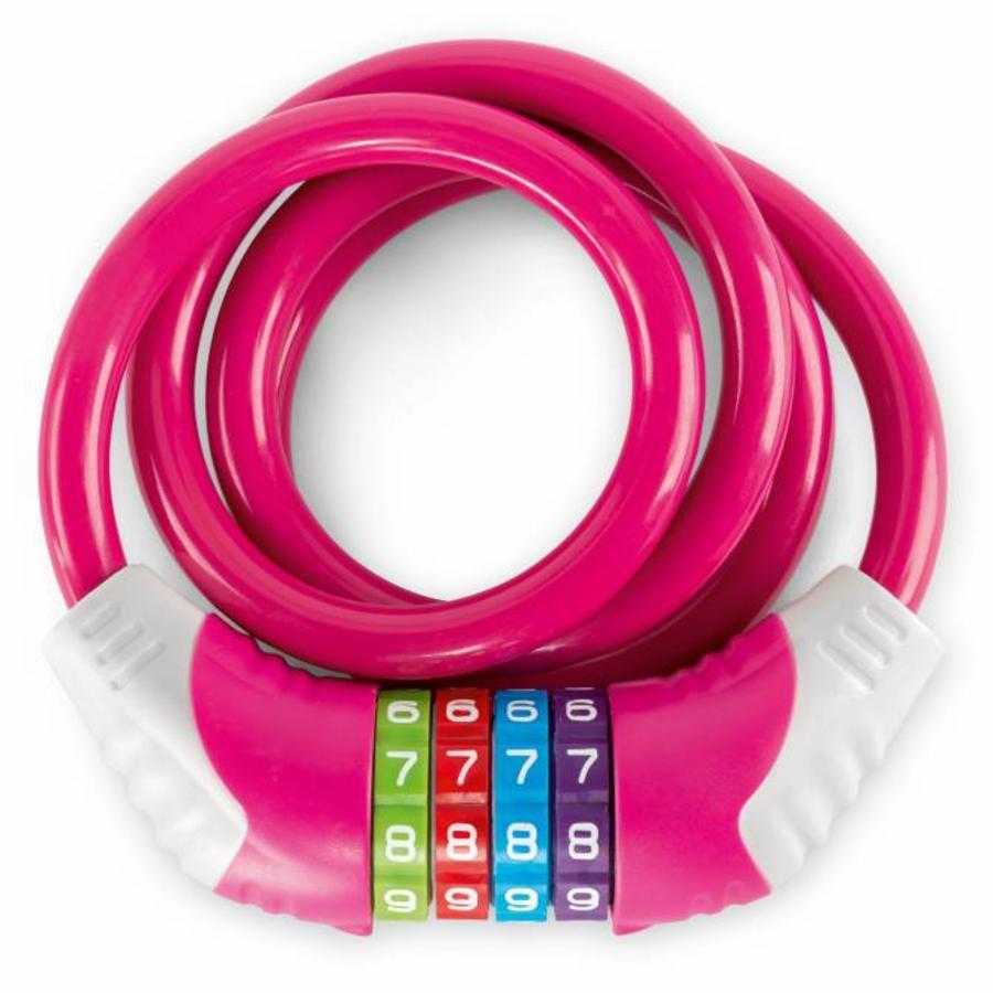 PUKY® Kabellås til cykel KS, pink 9431