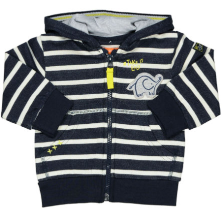 STACCATO Boys Sweat veste rayures marine