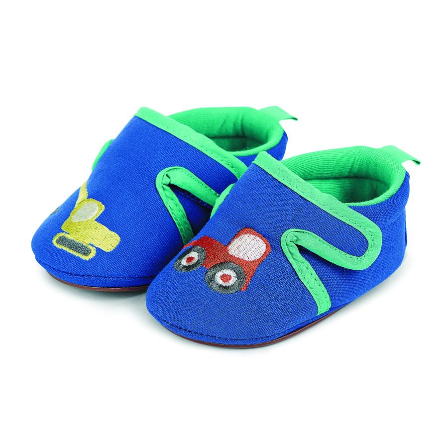 Sterntaler Boys Chaussures bébé à ramper broderie bleu
