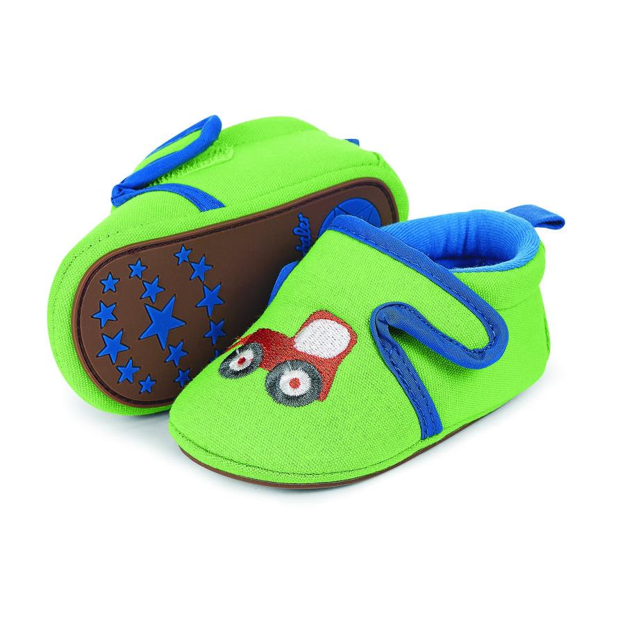 Sterntaler Boys Hafty na butach dla niemowląt z zielonym liściastym haftem