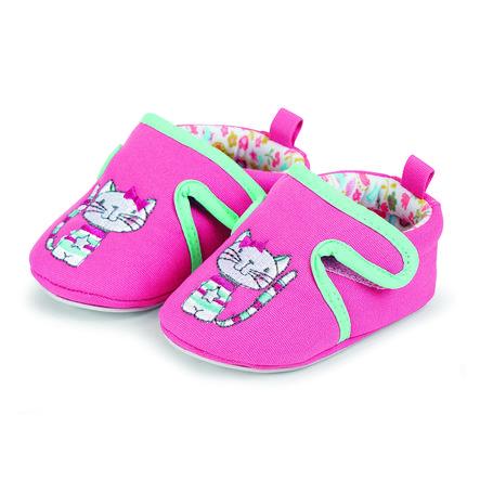 Sterntaler Girl s baby crawling shoe haft butów cukierkowy różowy