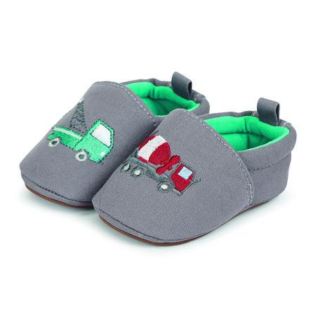 Sterntaler Boys Chaussure bébé à ramper broderie pierre grise