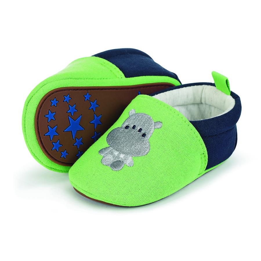 Sterntaler Baby-Krabbelschuh Stickerei sommergrün