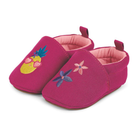 Sterntaler Girls Baby Zapatillas de gateo bordadas magenta