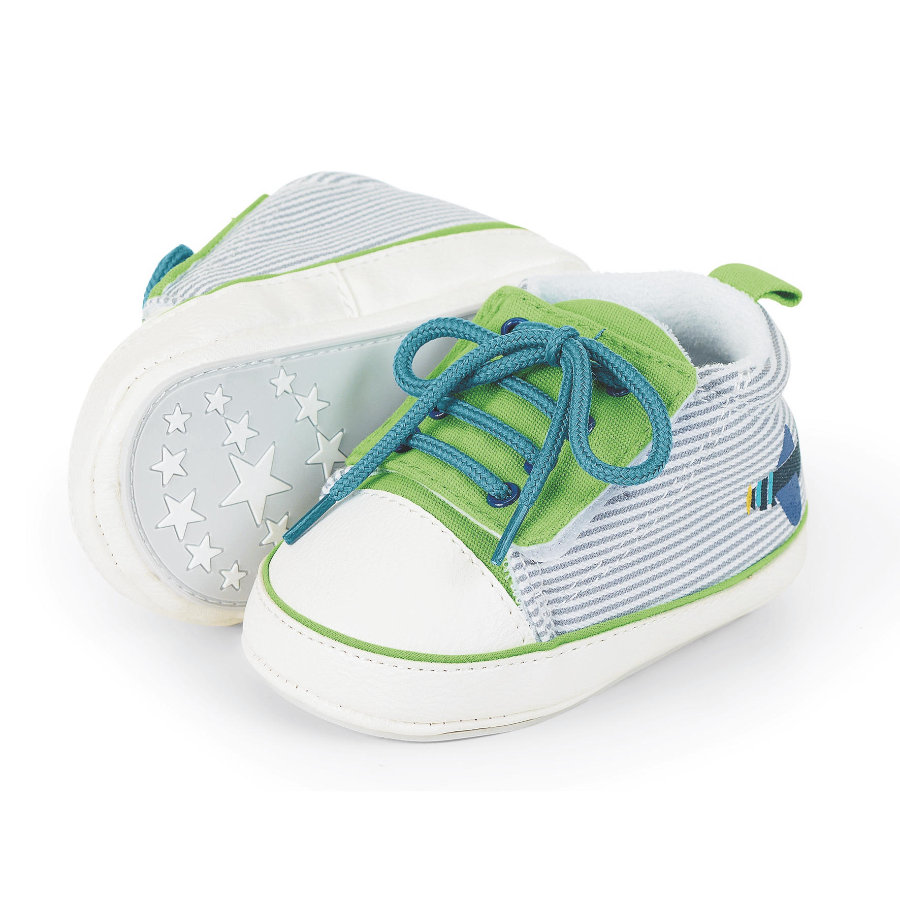 Sterntaler Boys Baby-Schuh Flugzeug sommergrün