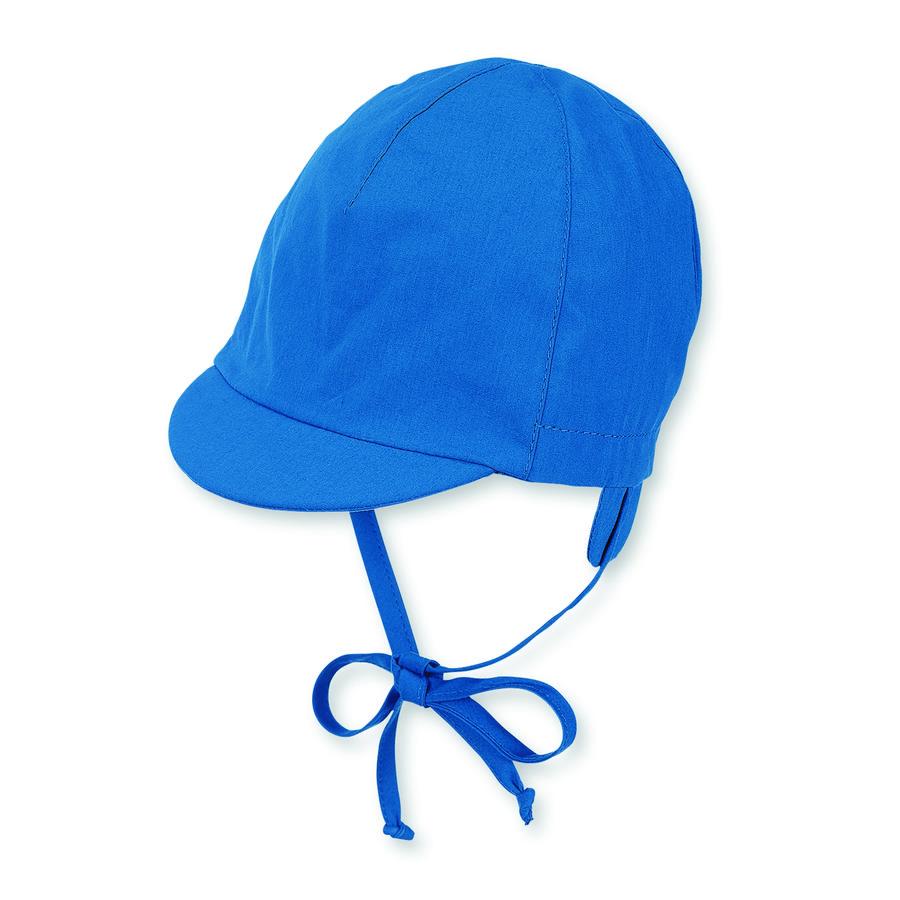 Sterntaler Boys Schirmmütze mit Nackenschutz kristallblau