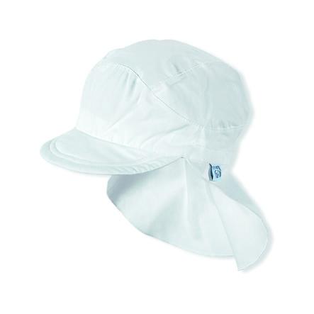 Sterntaler Girls čepice s kšiltem s ochranou krku, bílá