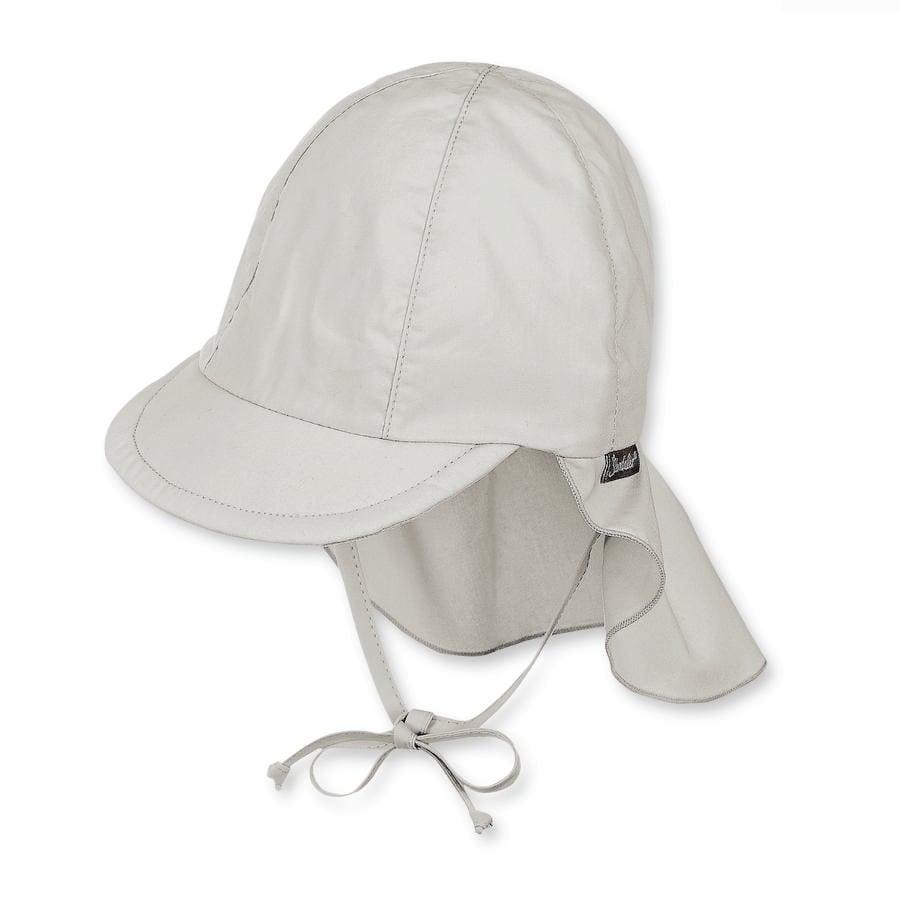 Sterntaler Girls čepice s kšiltem s ochranou krku, světle šedá