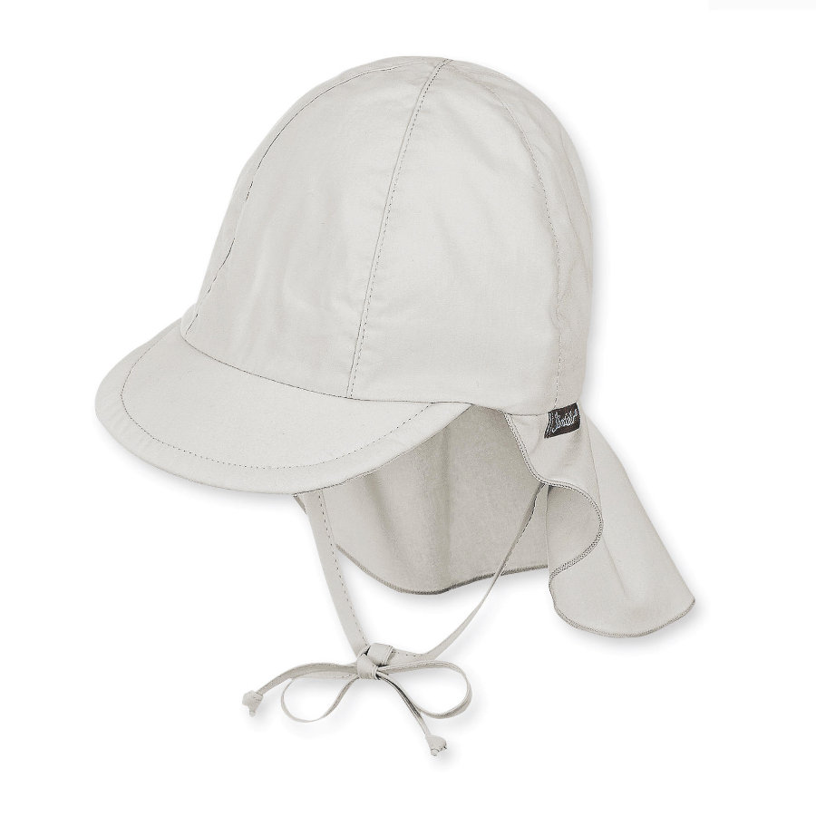 Sterntaler gorra con protección de cuello gris claro