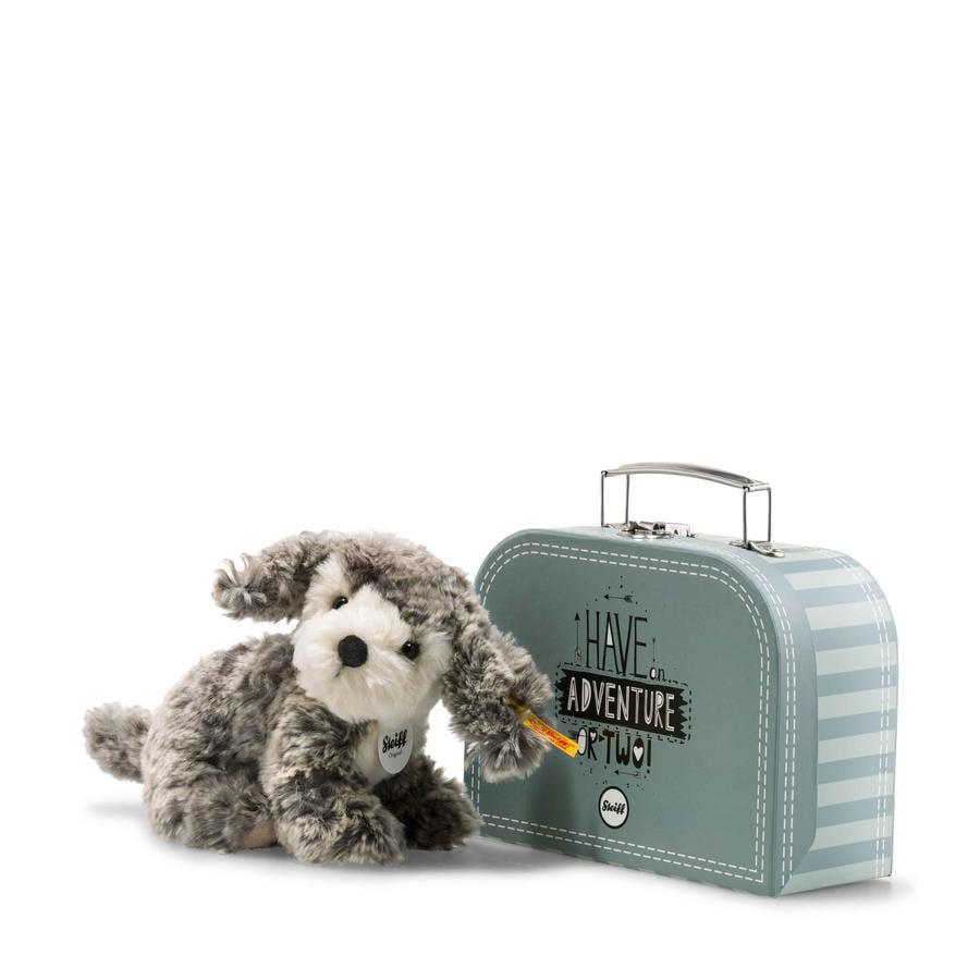 Steiff Hond Matty 18 cm grijs/beige