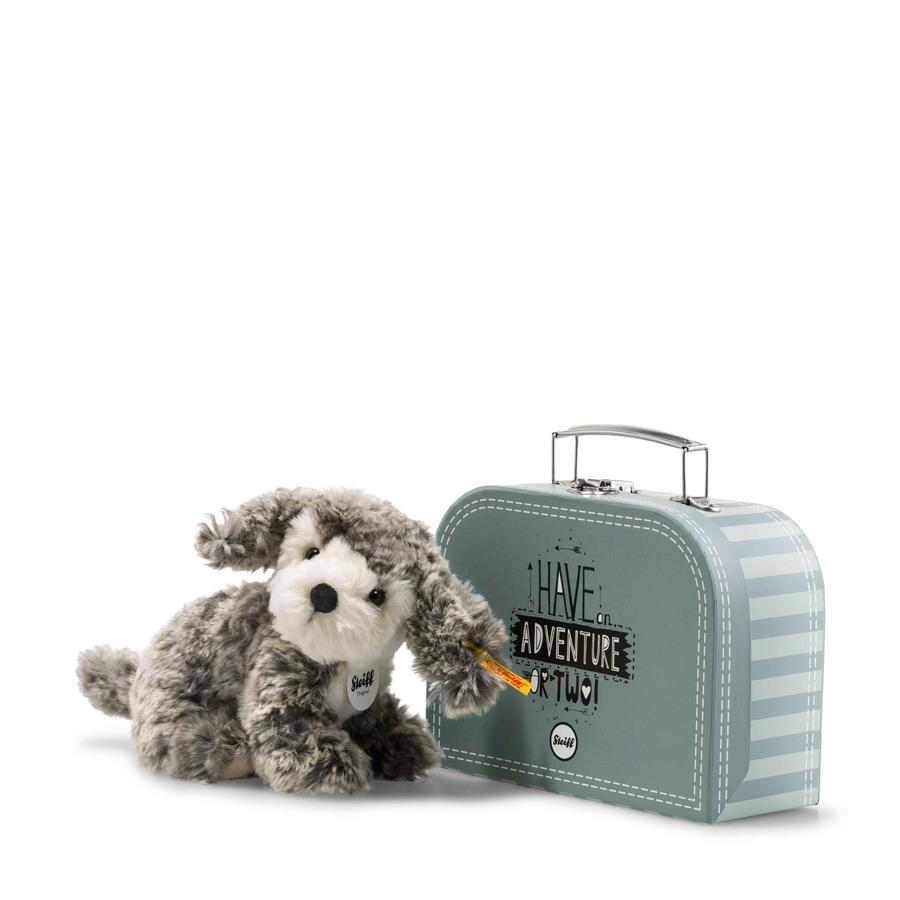 Steiff Matty Hund 18 cm, grå/beige