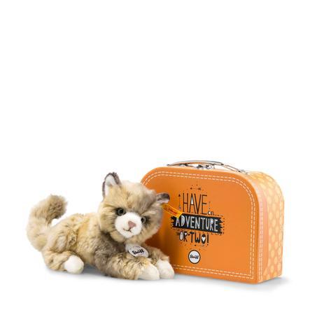 Steiff Katze Lucy im Koffer 18 cm braun