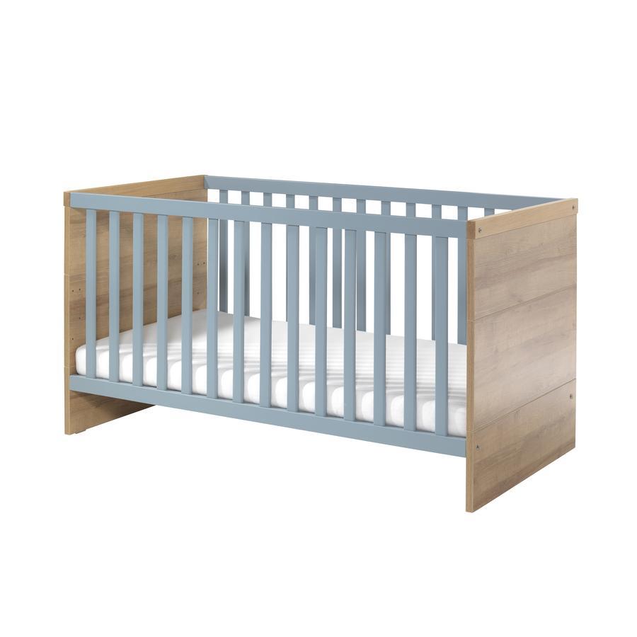 WELLEMÖBEL Kinderbett Benno Riviera Eiche / Pacific blau - babymarkt.de