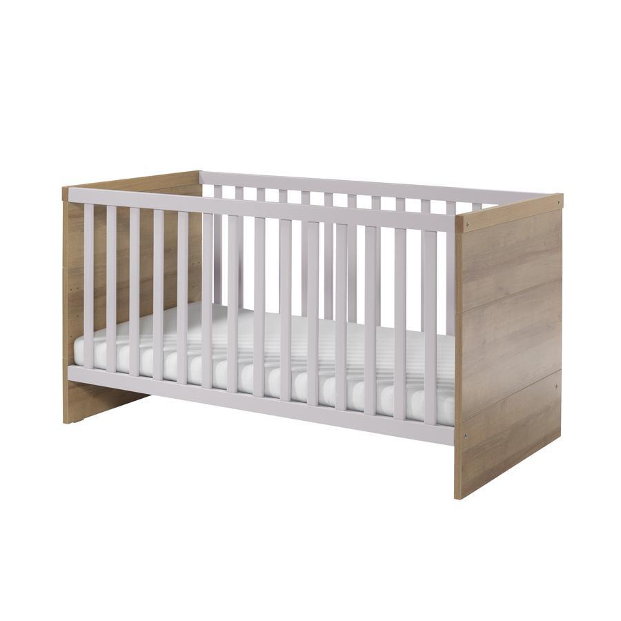 WELLEMÖBEL Kinderbett Benno Riviera Eiche / Lilac grey - babymarkt.de