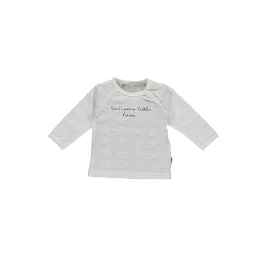 b.e.s.s Langarmshirt Welcome Little Love White