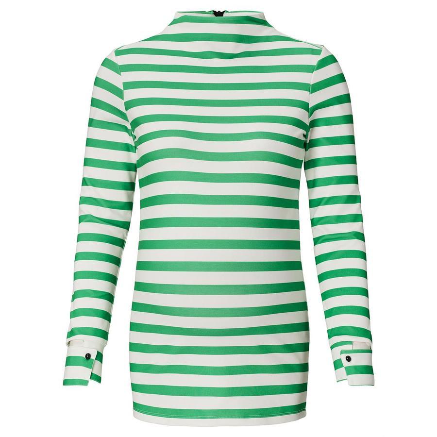SUPERMOM Camisa de manga larga Verde a rayas