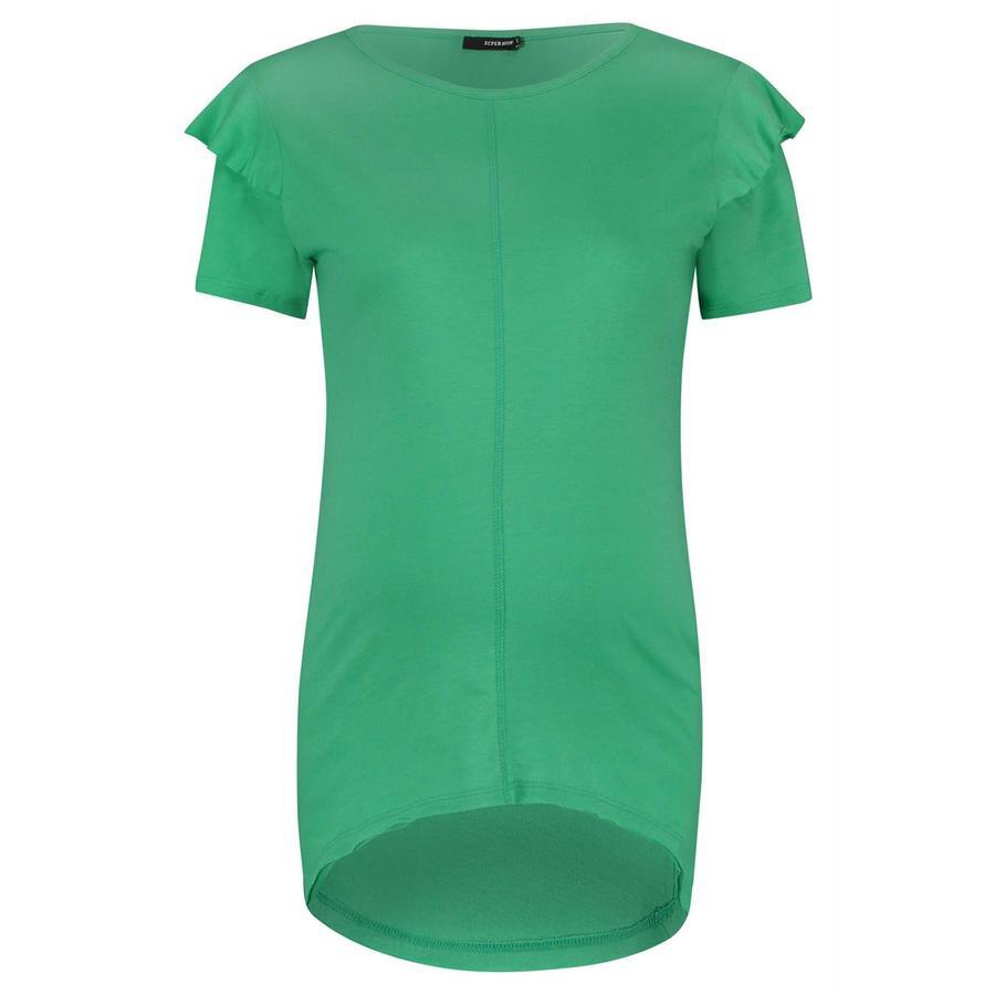 SUPERMOM T-Shirt Ruches Heldergroen